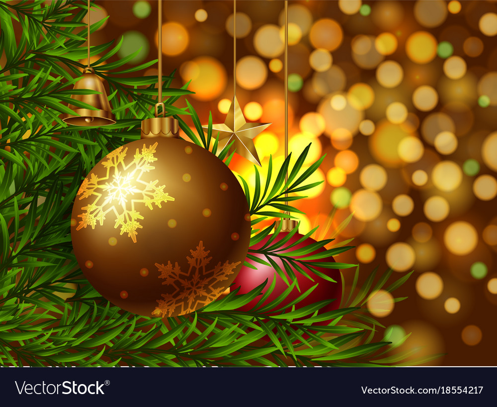 Christmas Ornament Background.Christmas Theme Background With Ornaments On The