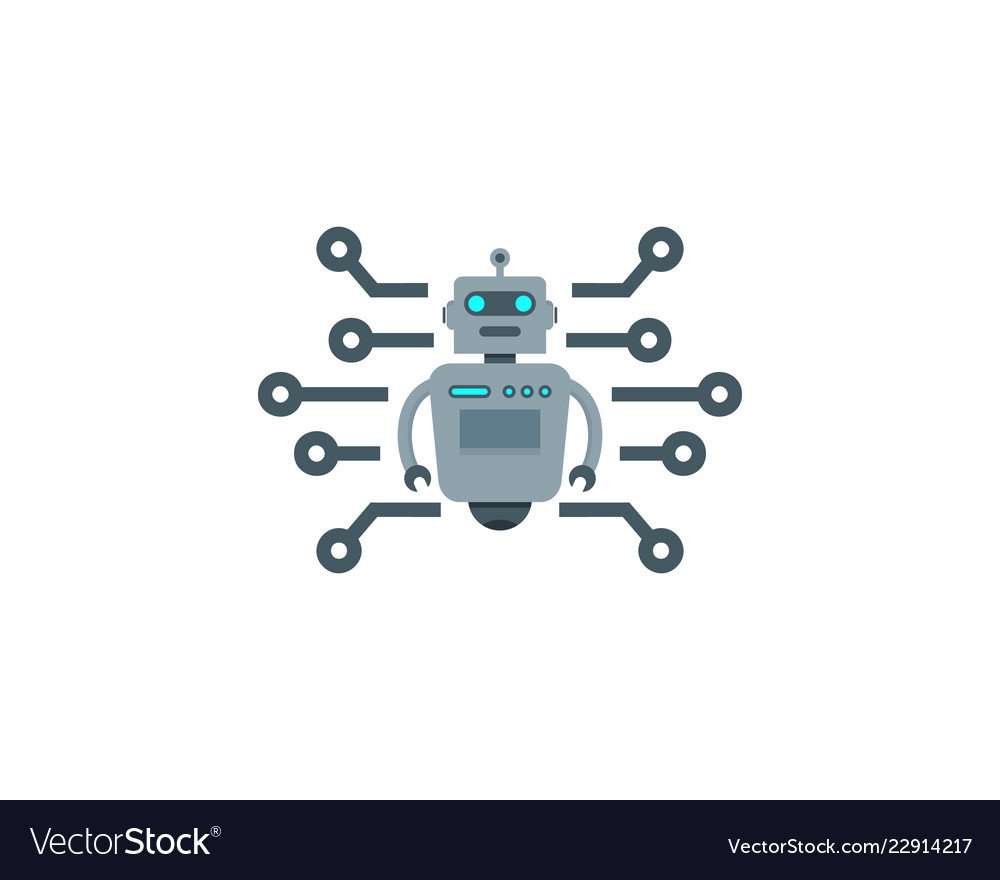 Digital Robot Logo Icon Design Royalty Free Vector Image