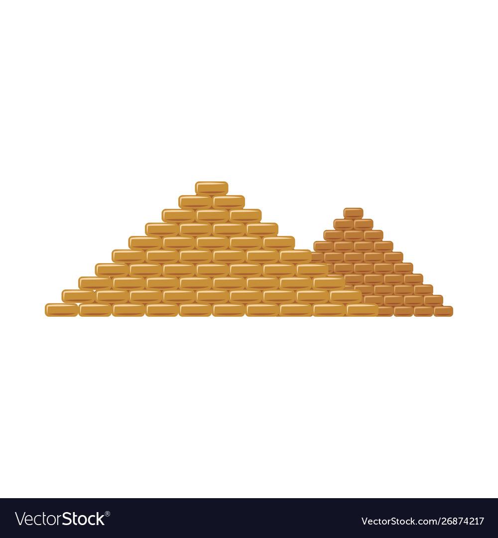 Egypt pyramids famous tourists landmark flat