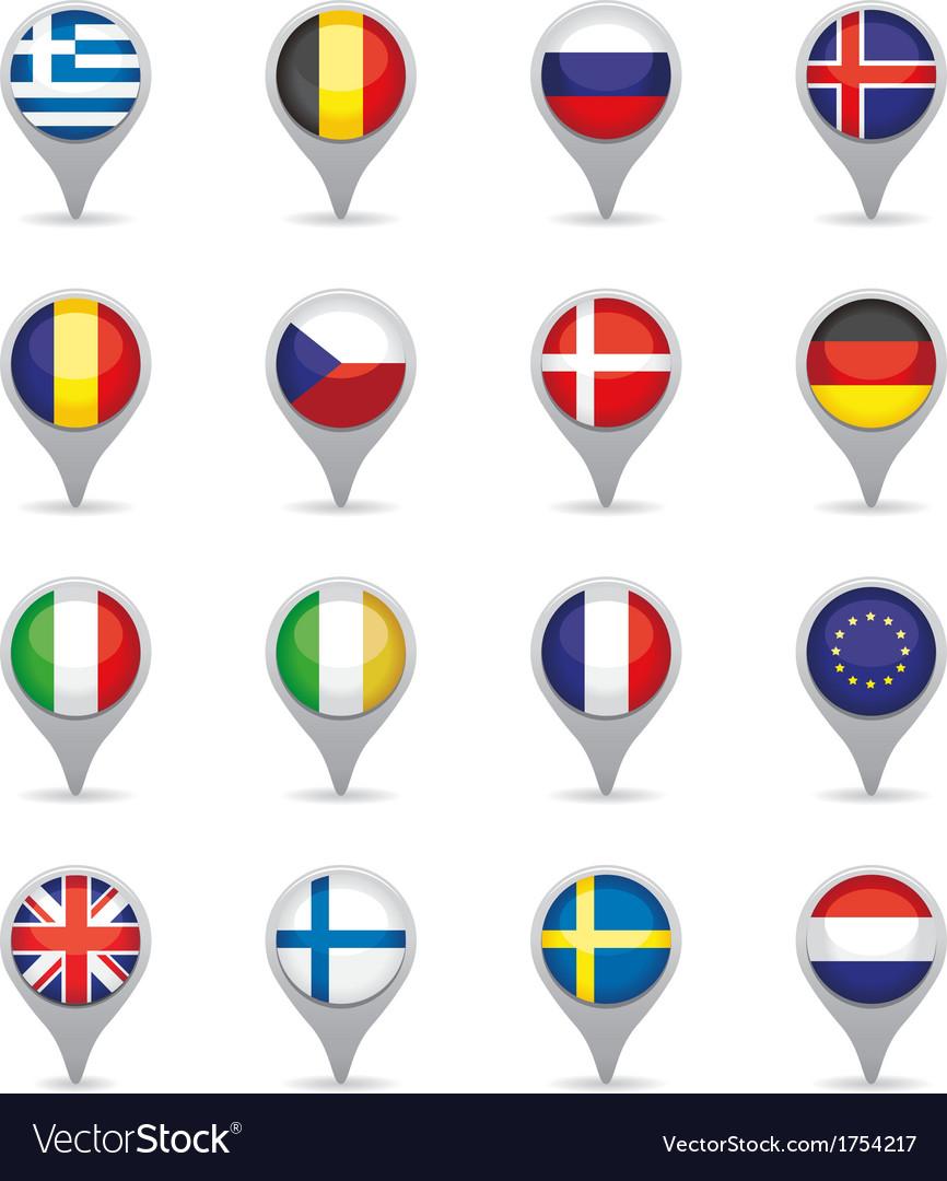 European flag pointers