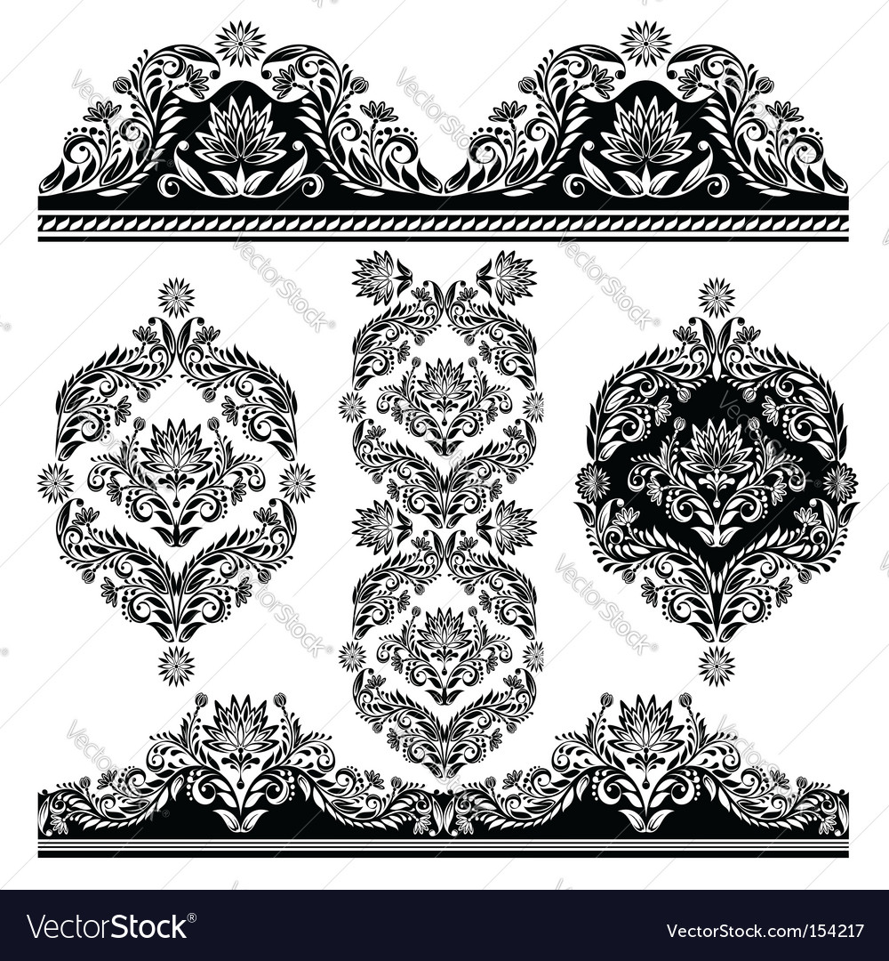Frame elements vector image