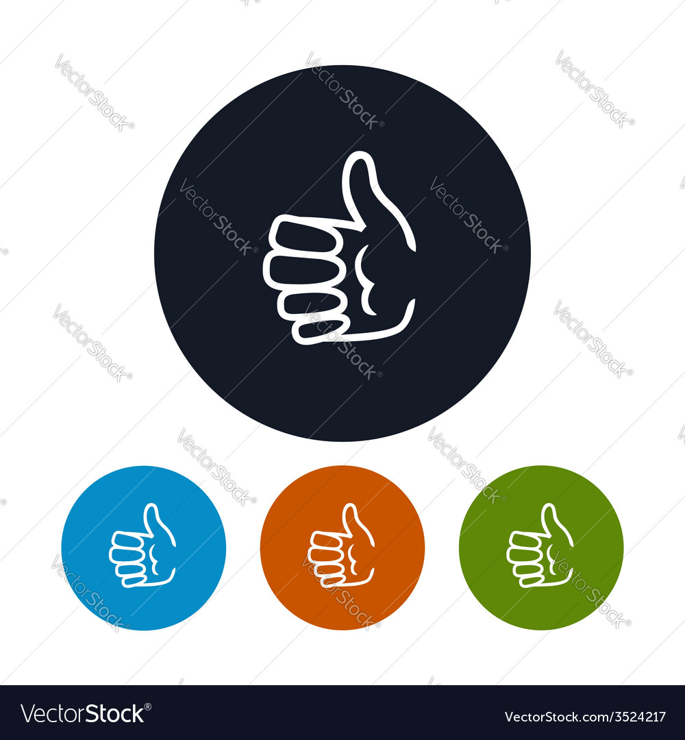 Icon hand giving thumbs up