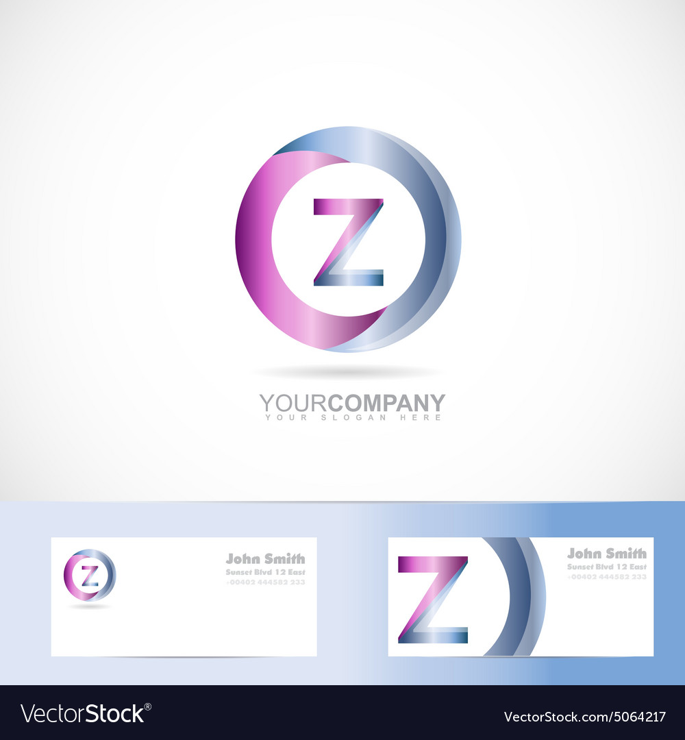 Letter Z cirlce logo
