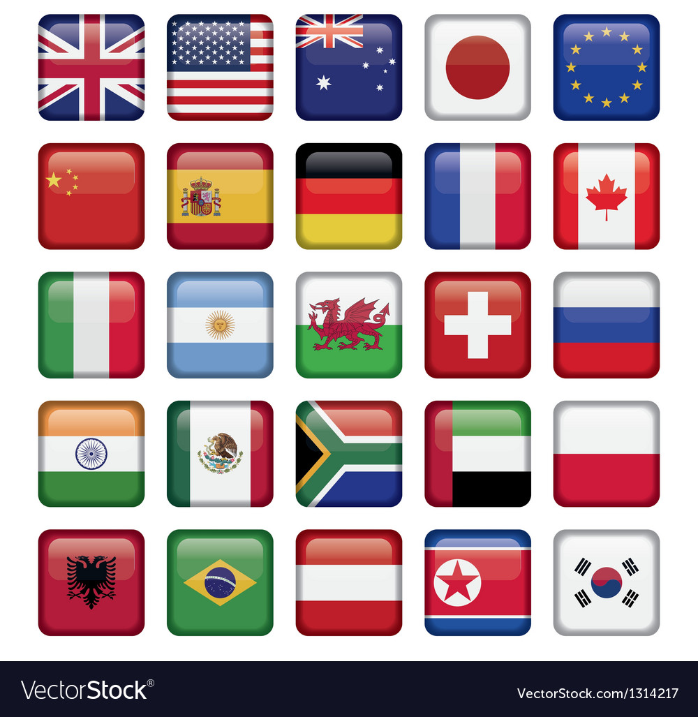 Set of Flags world top states