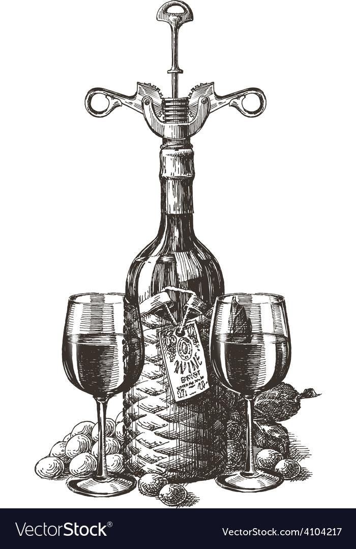 Wine logo design template grape or glass