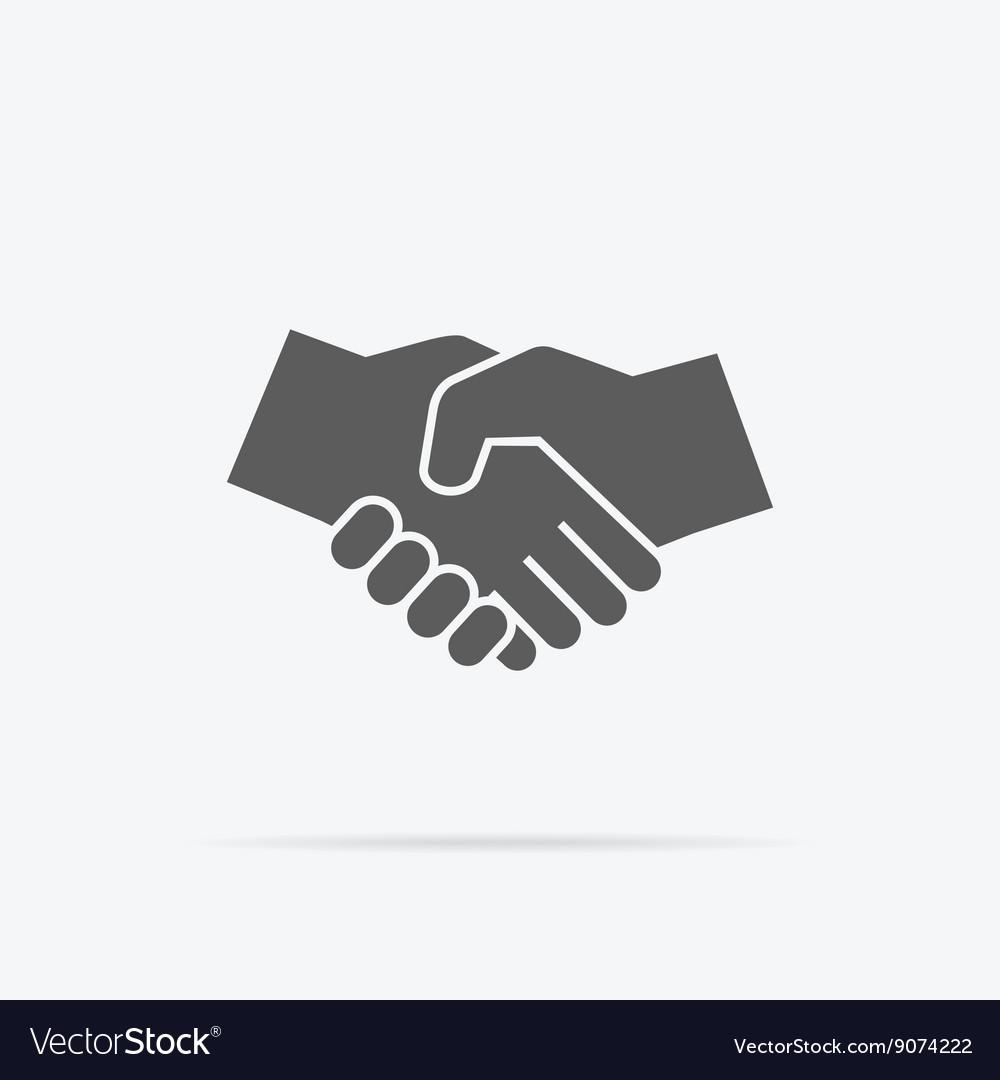 Black Icon Handshake vector image