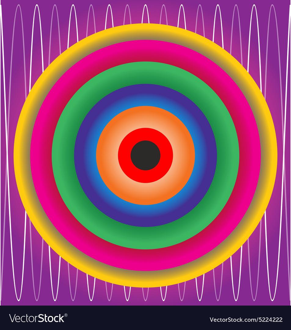 Colorfull material design abstract circles