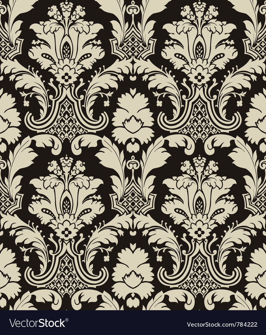 damask pattern royalty free vector image vectorstock