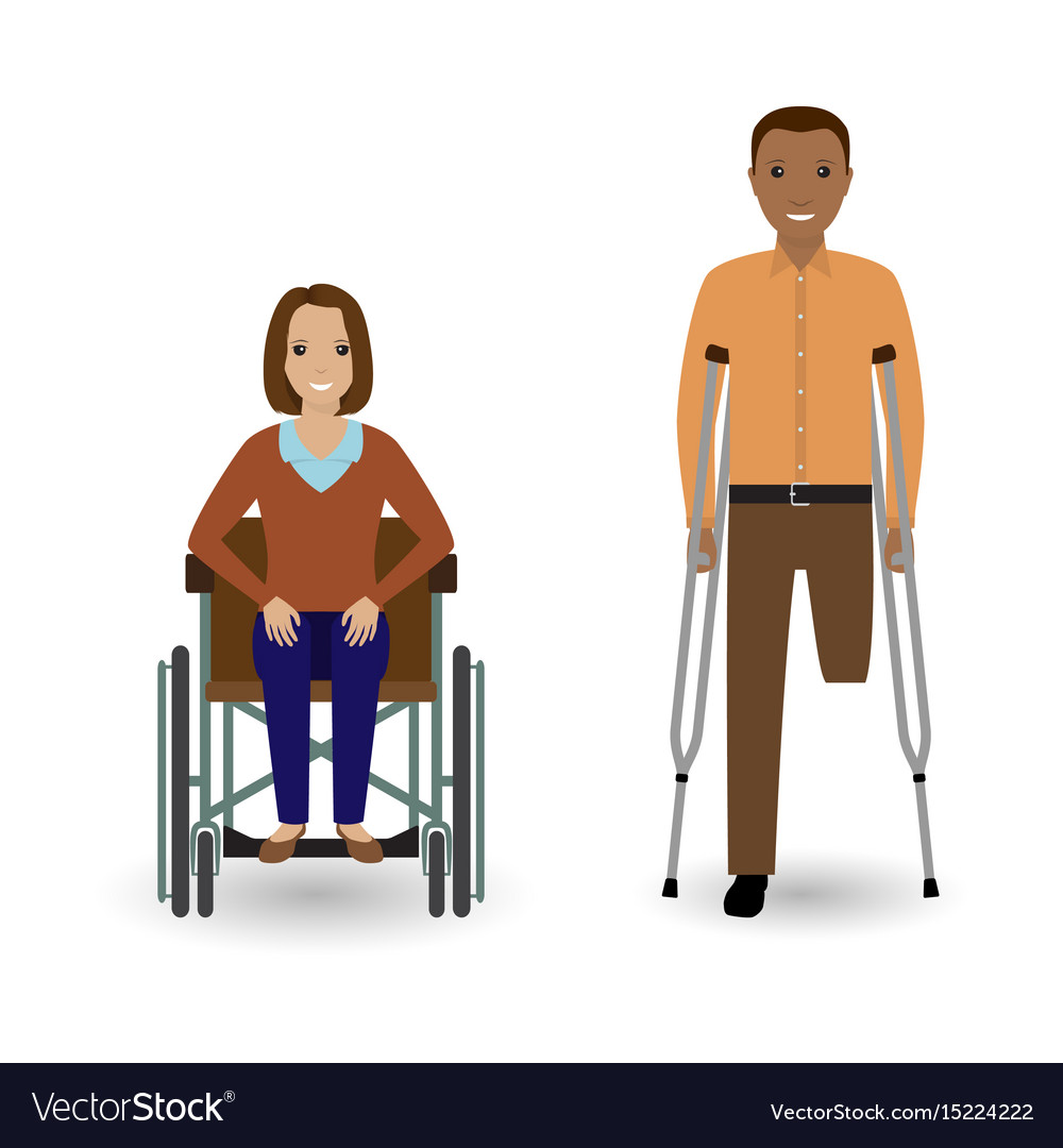 Disability people concept invalid woman in