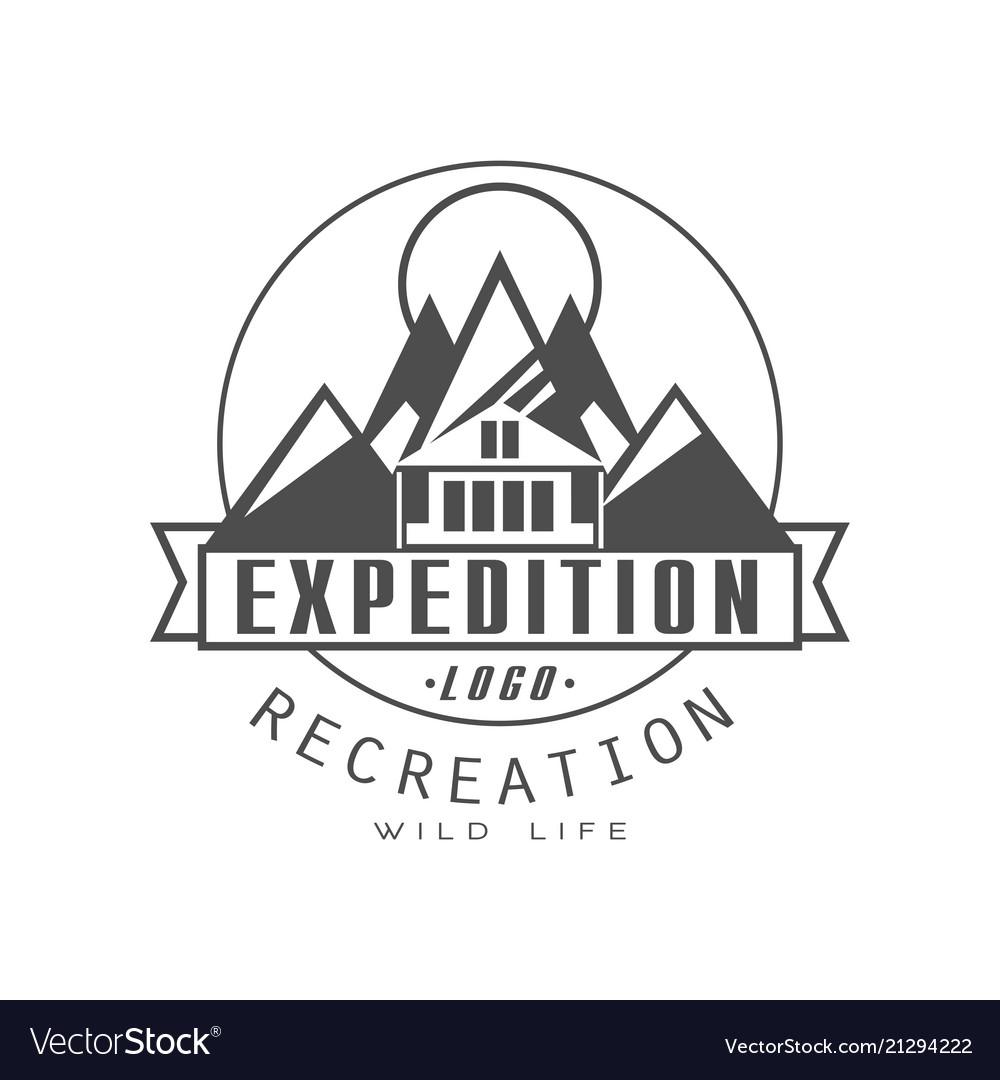 Expedition logo design recreation badge vintage