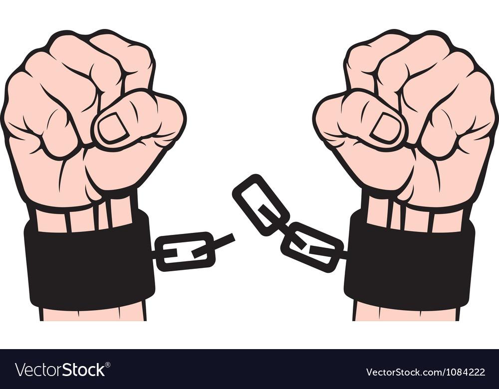 Hand broken chains