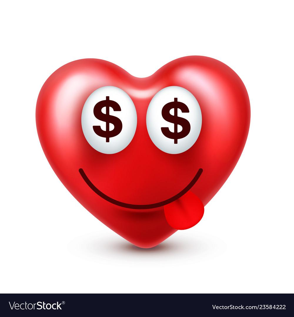Heart smiley emoji for valentines day