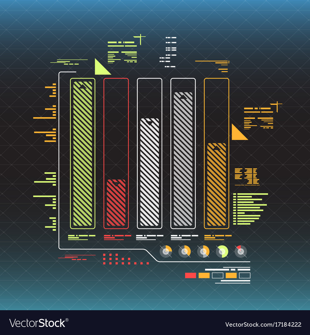 Info graphic elements futuristic user interface