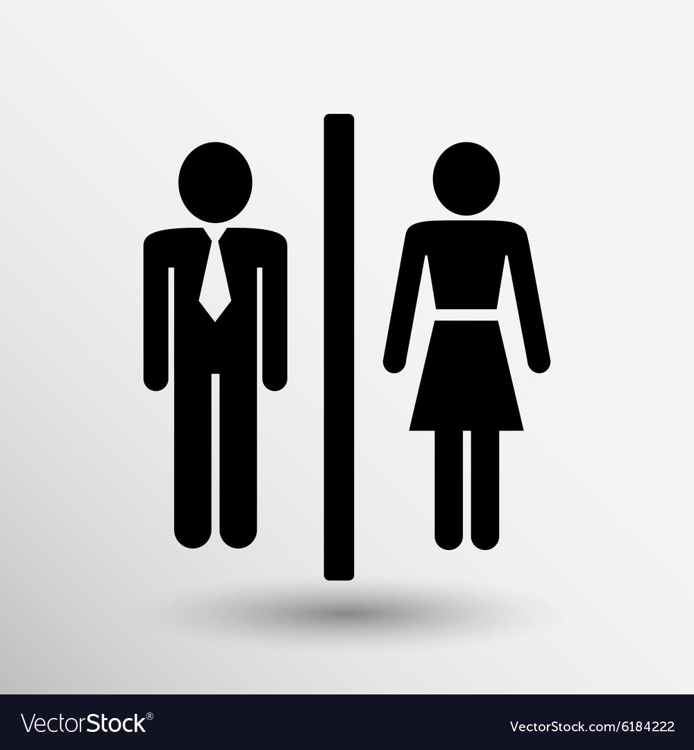 man woman restroom sign icon button logo symbol vector image rh vectorstock com women's restroom logo family restroom logo