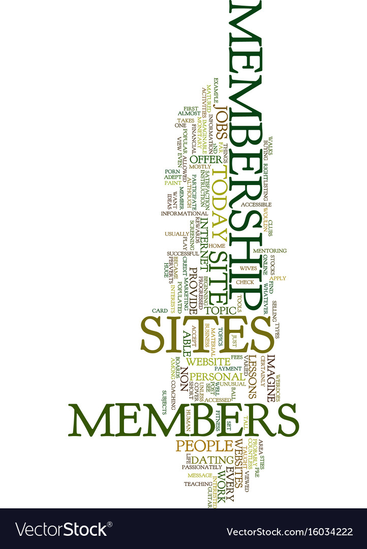 Membership sites today text background word cloud