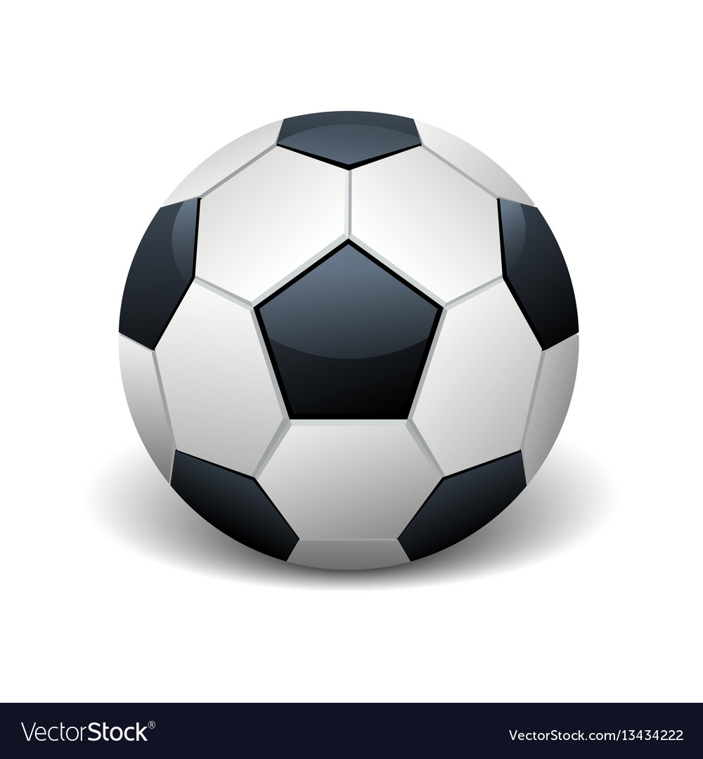 Realistic soccer ball isolated white