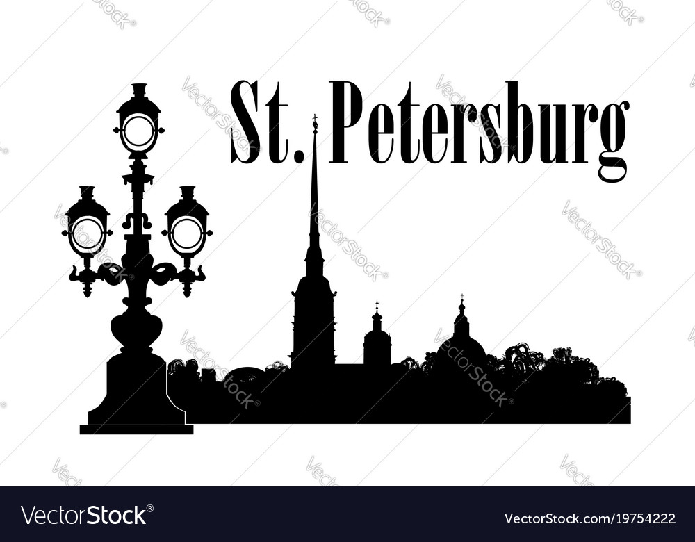 Saint-petersburg city russia st peter paul