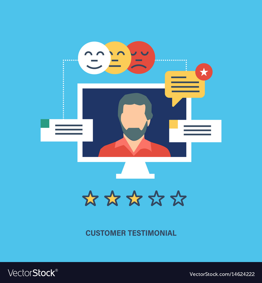 Testimonials business feedback vote and review