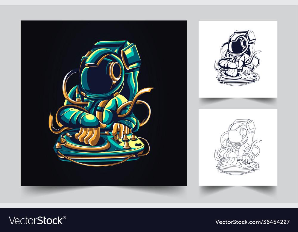 Dj astronaut artwork