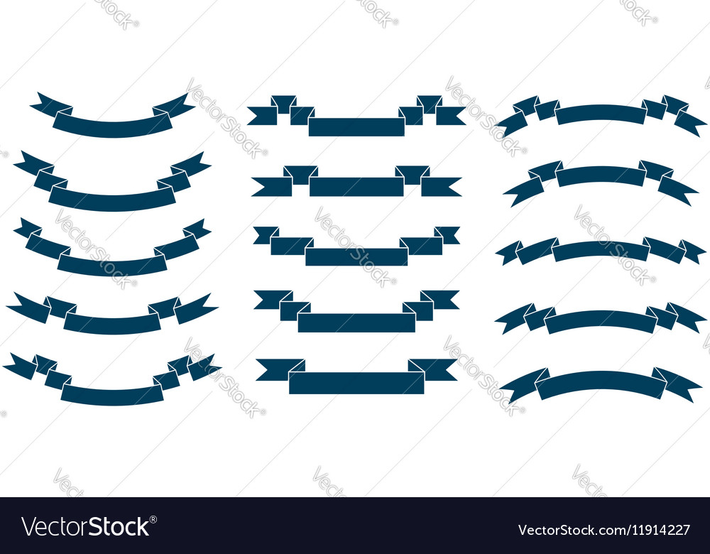 Set of different ribbons vector image