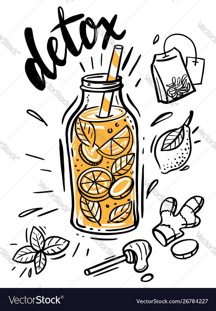 Sketch detox water
