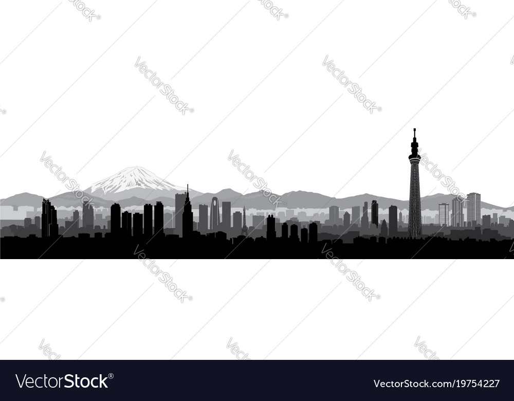 Tokyo city skyline view travel japan background