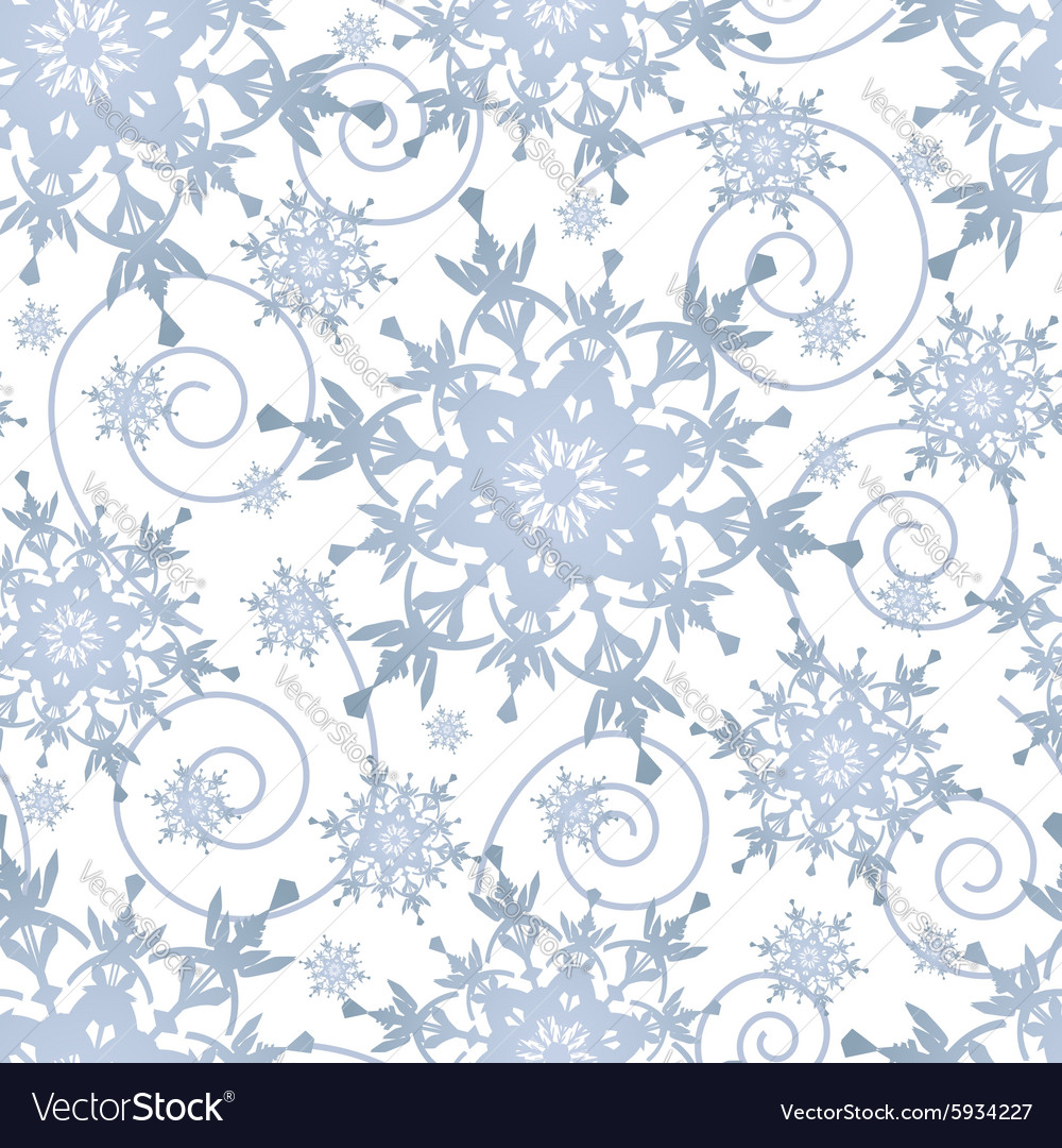 Winter festive seamless pattern with snowflakes