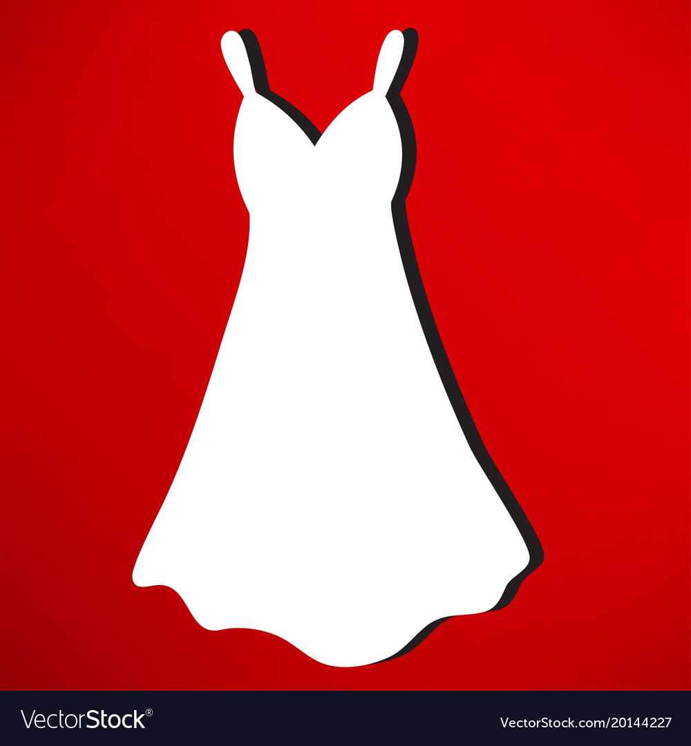 Woman Dress Sign Icon Elegant Clothes Symbol Vector Image