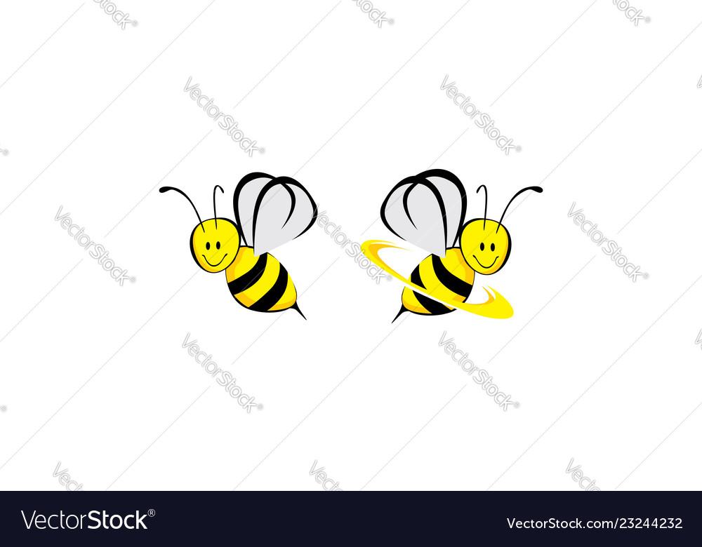 Bee icon logo technology
