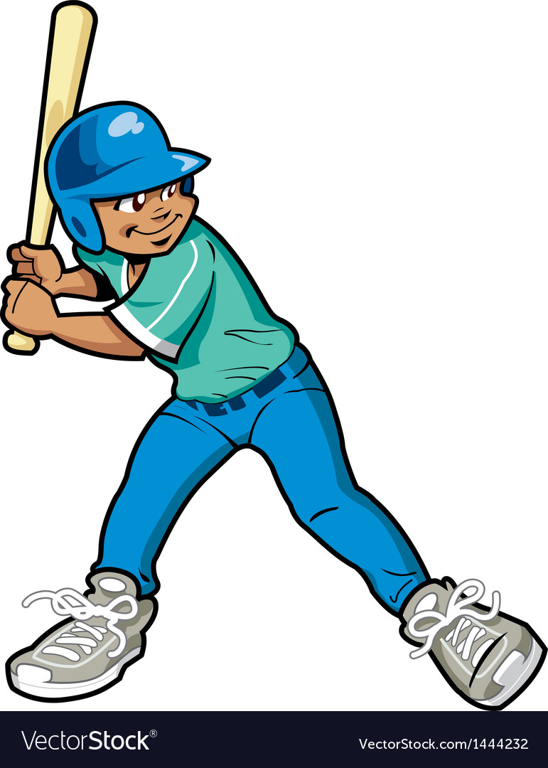 boy baseball batter royalty free vector image vectorstock rh vectorstock com Baseball Stitches Vector Clip Art Baseball Player Vector
