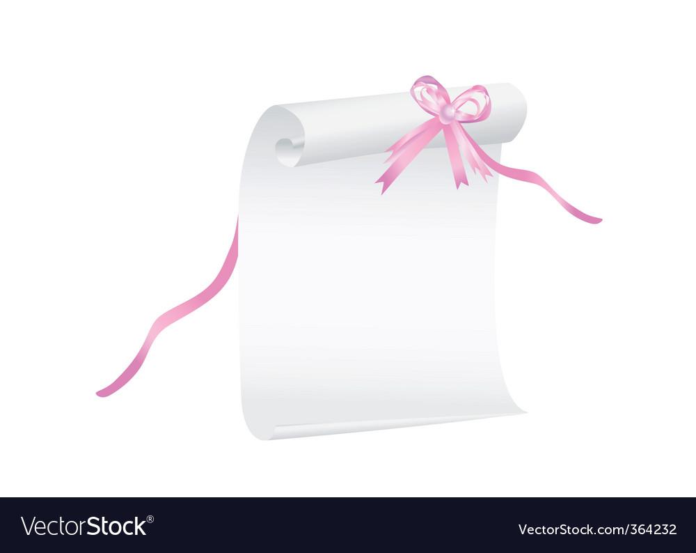 Graduation scroll vector image