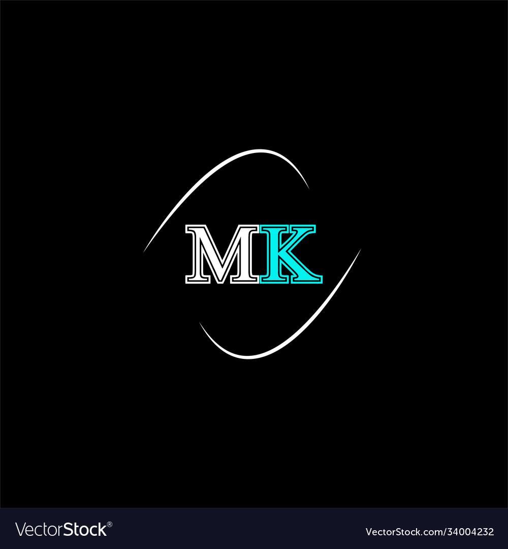 M k letter logo emblem design