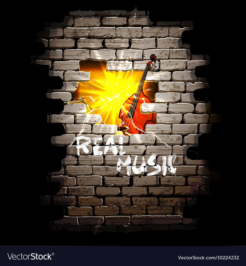 Musical breakthrough in brick wall uno