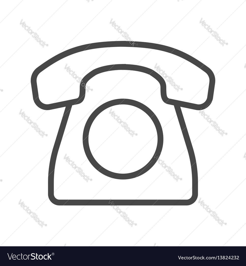 Office phone line icon