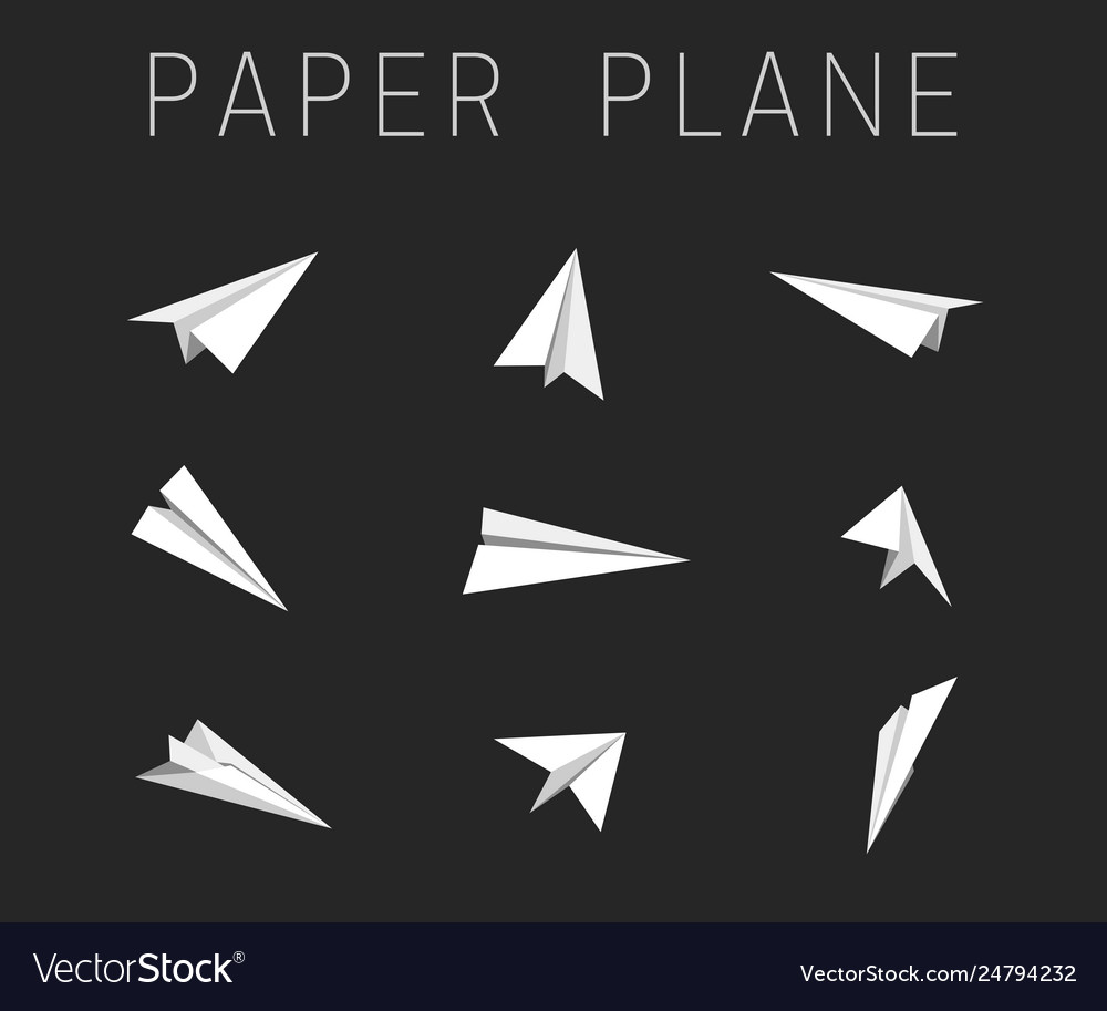 Paper planes icons