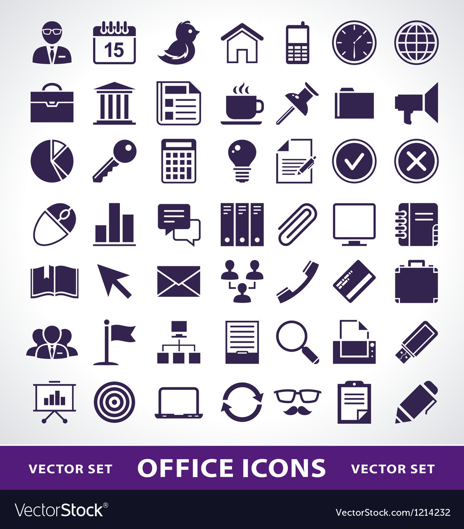 Simple office life icons
