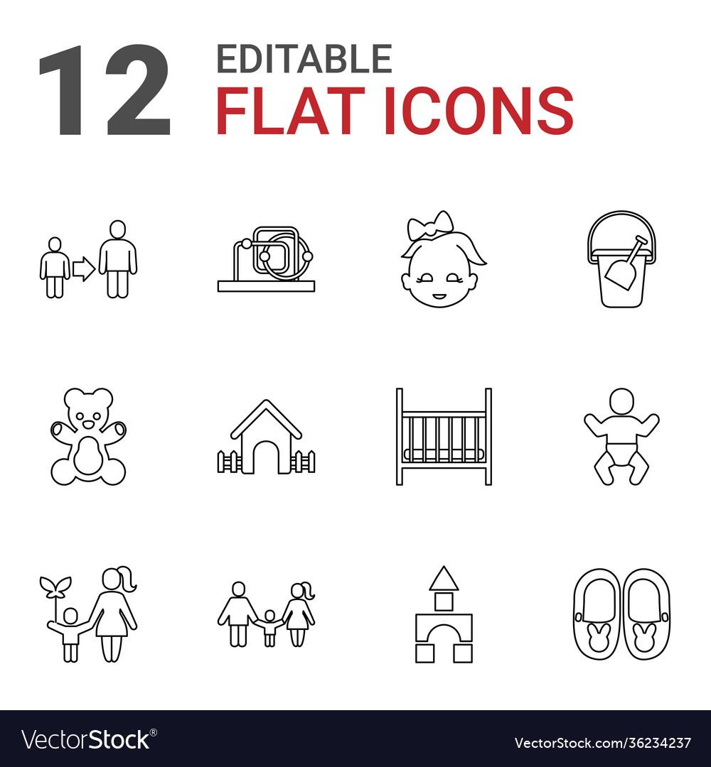 12 child icons