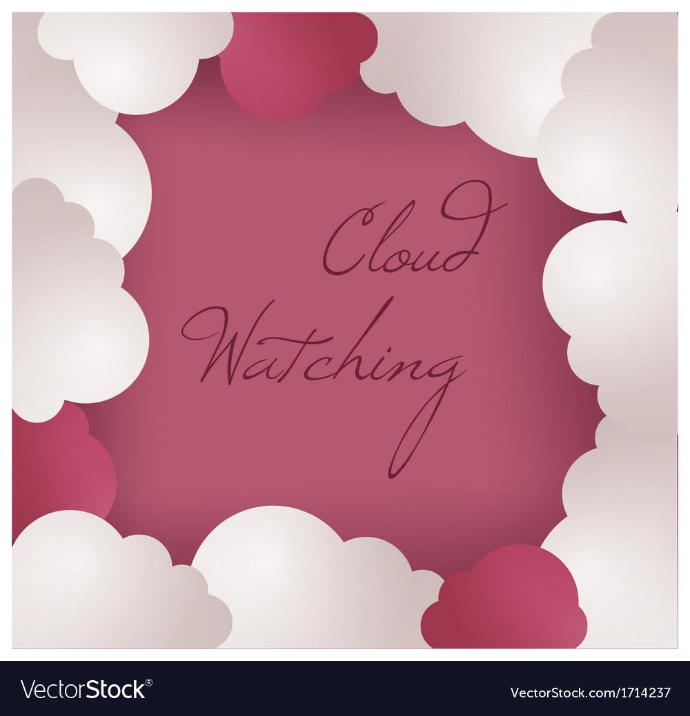 Cloud frame background