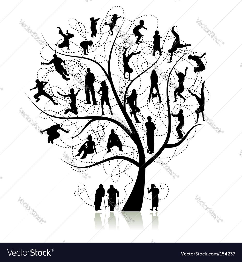 family tree royalty free vector image vectorstock rh vectorstock com family tree vector free family tree vector file