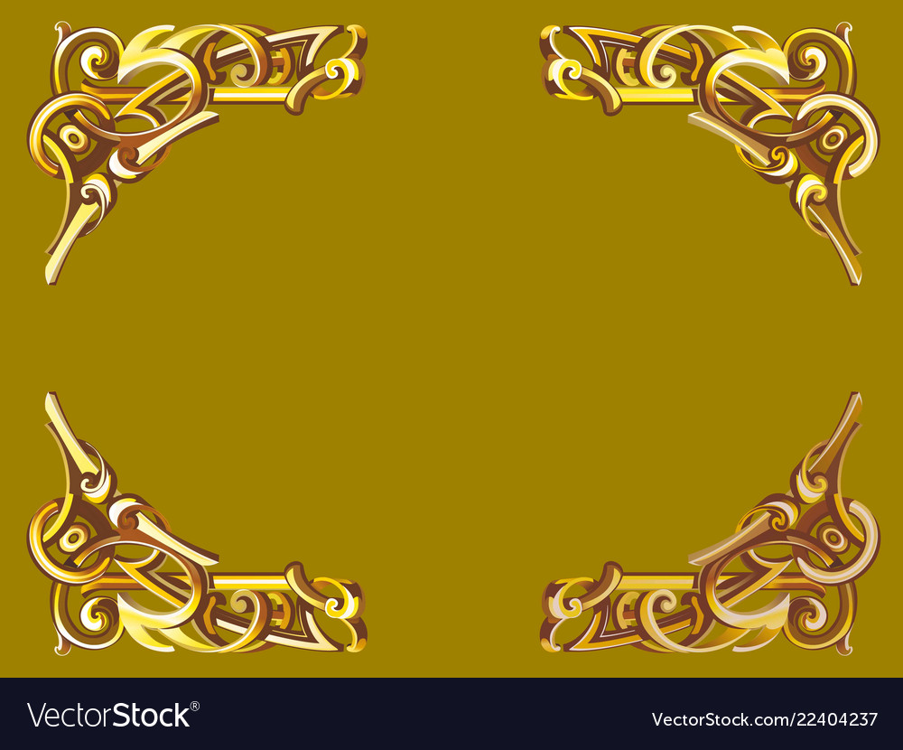 Gold frame in victorian style