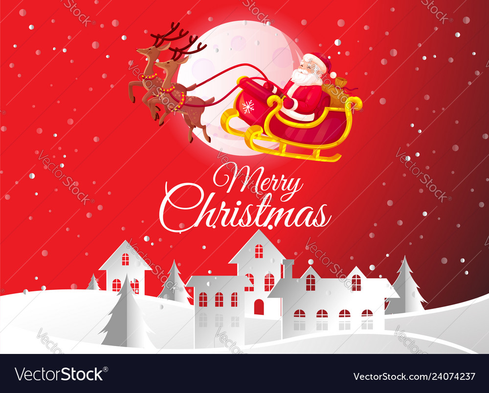 Merry christmas greeting card and happy new year
