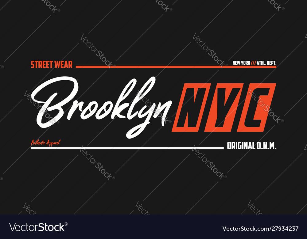 Nyc brooklyn athletic t-shirt design new york