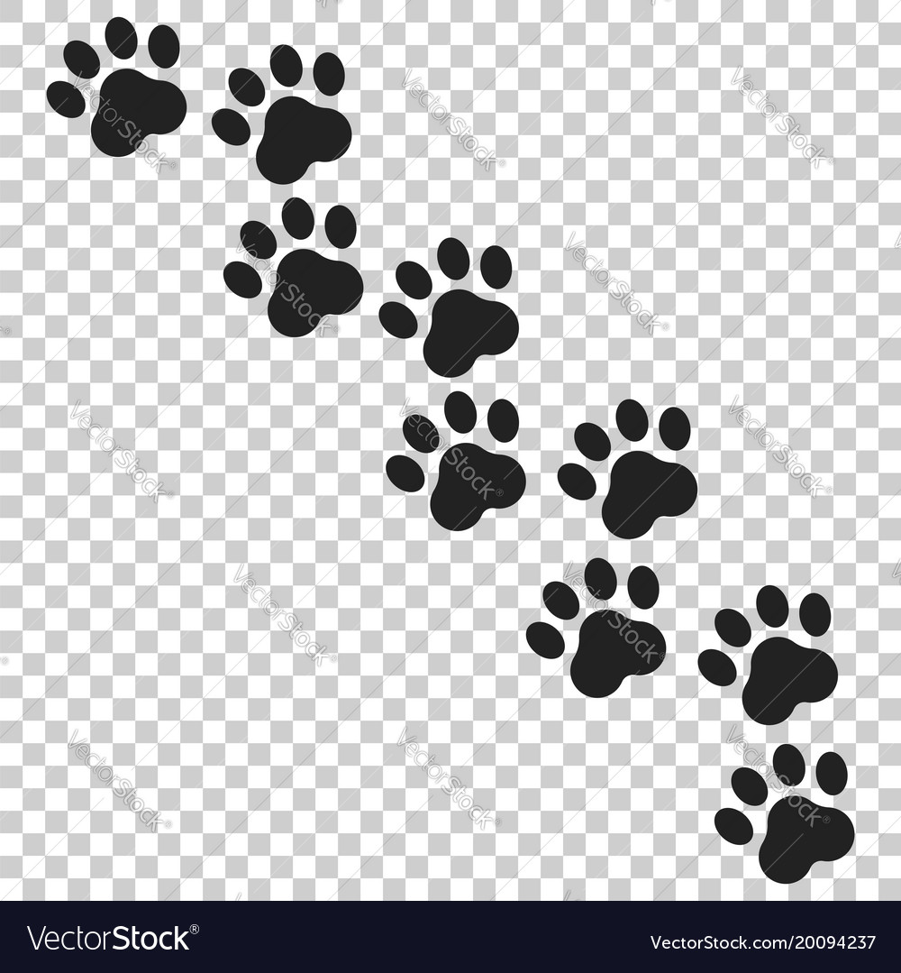 Paw print icon dog or cat pawprint animal vector image