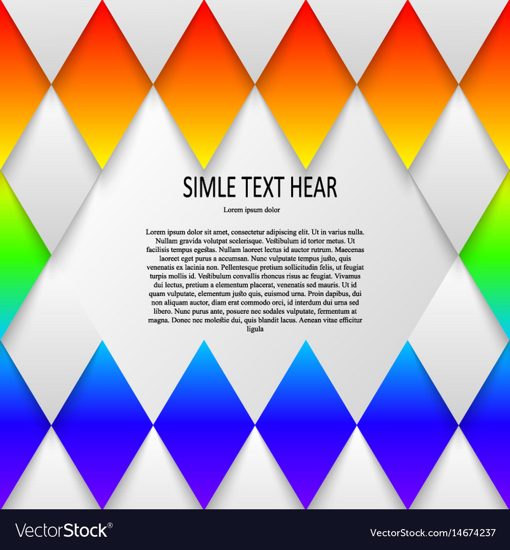Rainbow colored template for vector image