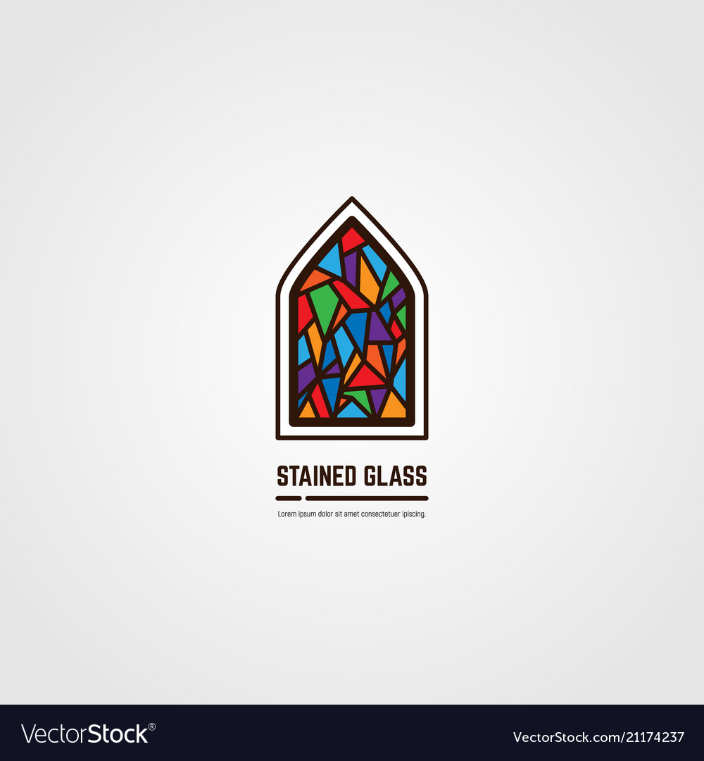 Stained glass line emblem