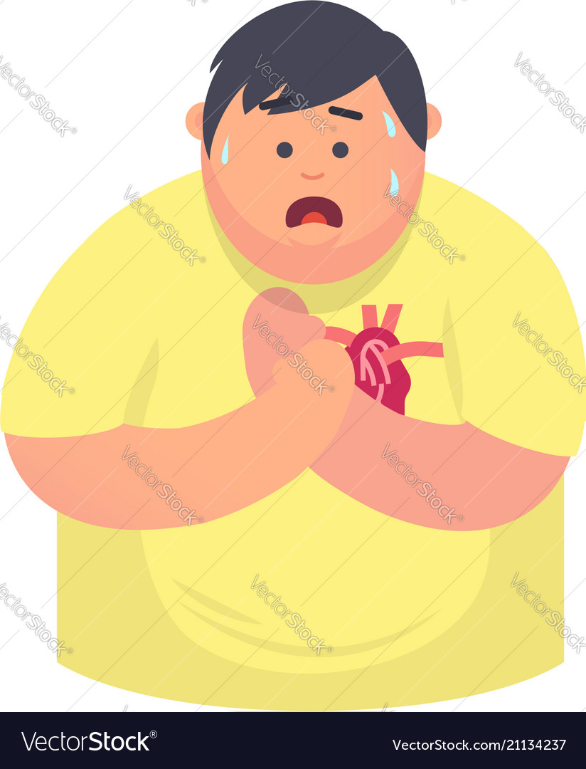 Symptoms of heart disease Royalty Free Vector Image