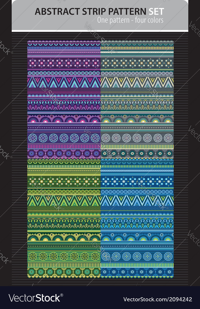 Abstract strip pattern set