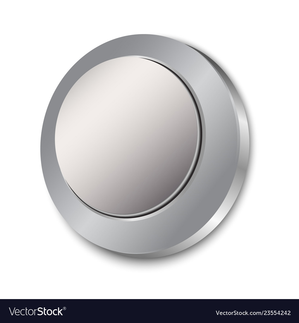 Button blank isolated