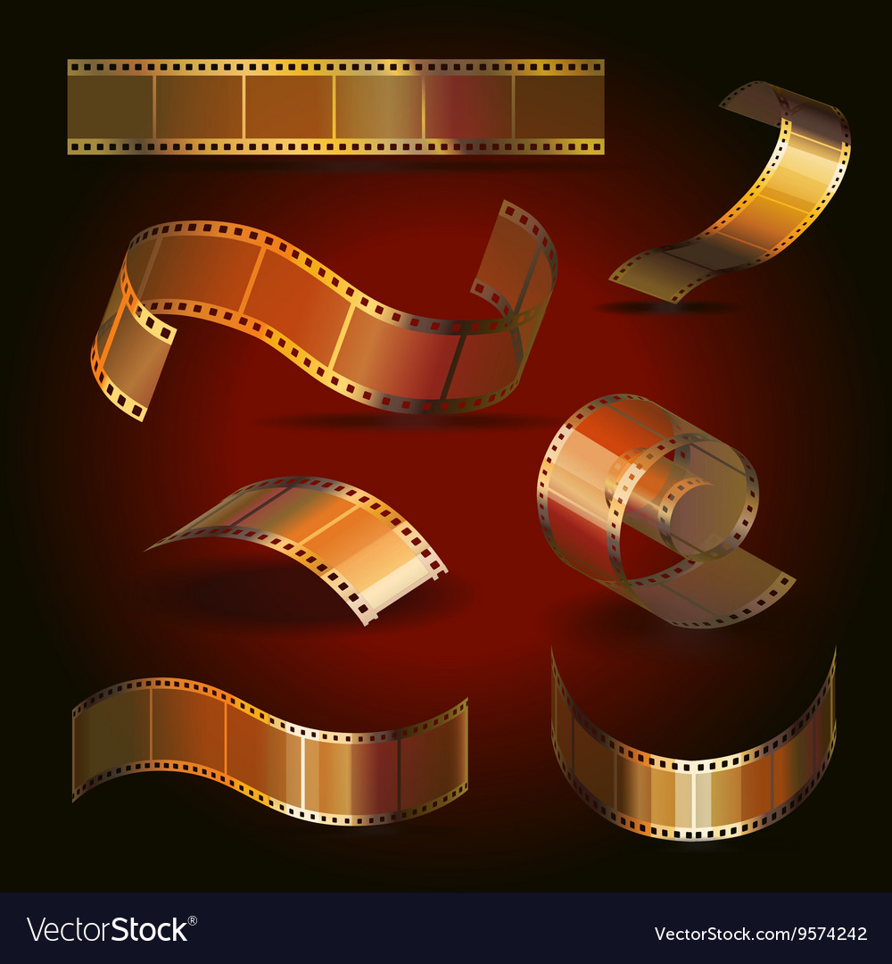 Camera film roll gold color set
