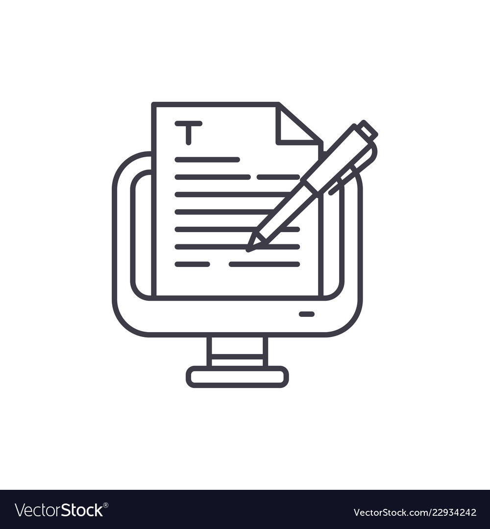 Copywriting line icon concept copywriting